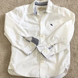 H&M boy white button down shirt